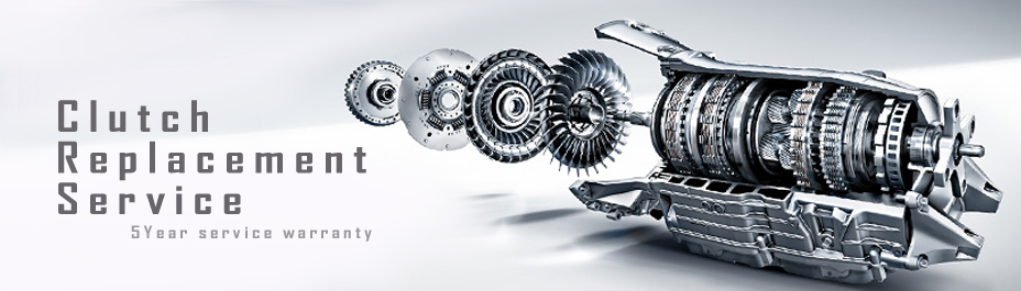 Clutch replacement service with 5 year warranty